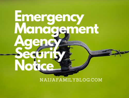 Emergency Management Agency Security Notice